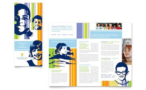 high school brochure template learning center elementary school brochure template