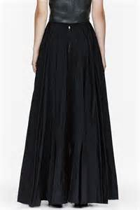 yang li black floor length circle skirt in black lyst