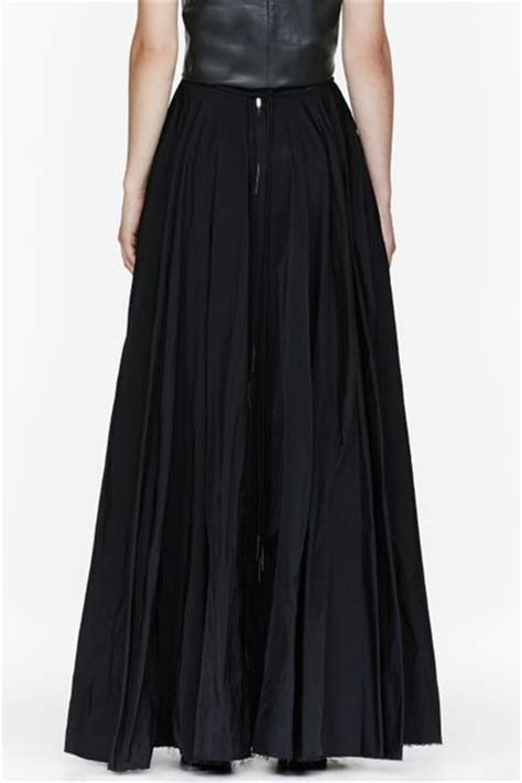 Floor Skirt by Yang Li Black Floor Length Circle Skirt In Black Lyst