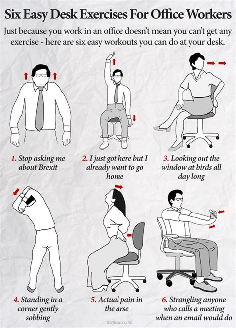 easy to desk six easy desk exercises for office workers scoopnest com