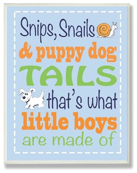 snips snails and puppy tails snips snails and puppy tails boys rhyme contemporary artwork by ivgstores