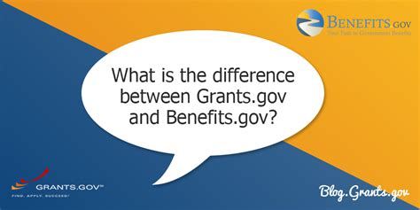 what is the difference between grants gov and benefits gov