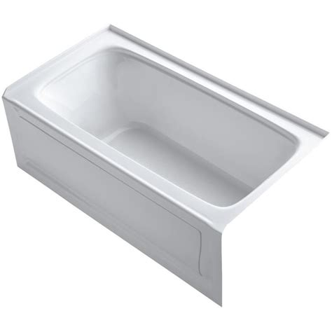 Kohler Bathtubs Lowes by Shop Kohler Bancroft 60 In White Acrylic Alcove Bathtub