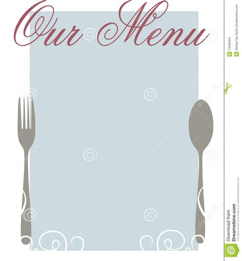 Our Menu Stock Images Image 13599464 Blank Fancy Menu Template