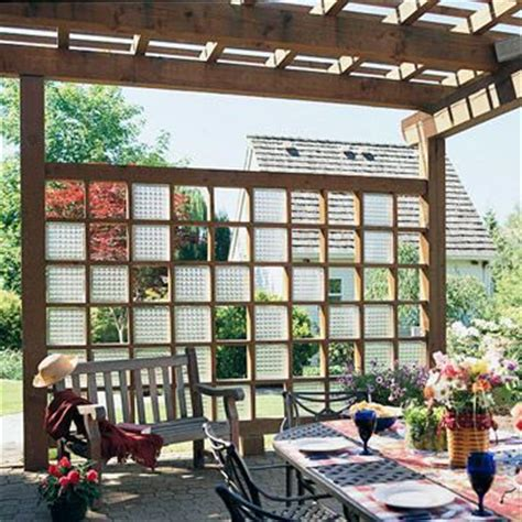 privacy solutions for your deck glass blocks glasses