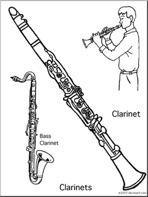 jazz clarinet coloring sheets coloring pages