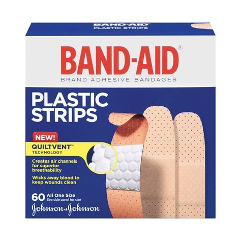 Band Aid Wars 15 Strips plastic strips all one size 60 s band aid 174 brand adhesive bandages