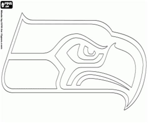 Nfl Logos Coloring Pages Printable Games 2 Seattle Seahawk Coloring Pages