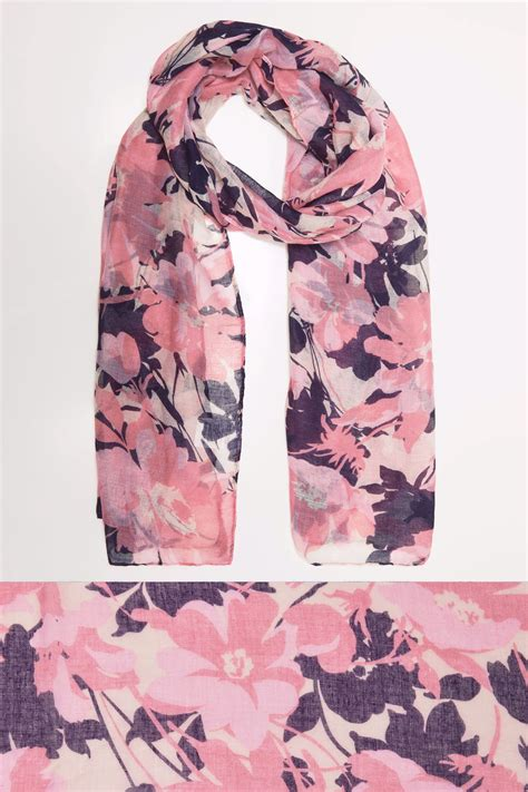 Find S Names By Address Uk Pink Multi Floral Print Scarf