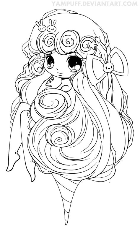 deviantart coloring pages cotton candy lineart by yampuff deviantart com on
