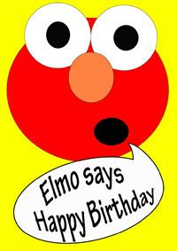 printable birthday cards elmo elmo birthday party ideas