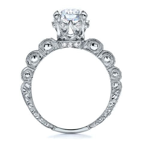antique pave engraved engagement ring vanna