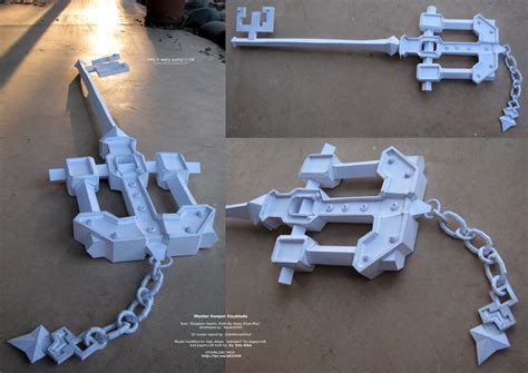 Kingdom Hearts Papercraft - kingdom key keyblade dimensions crafts