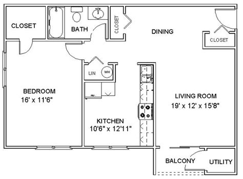 one bedroom apartment dimensions bestapartment 2018