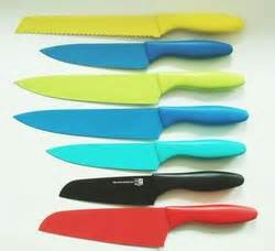 plastic handle nonstick knife set colorful kitchen knives