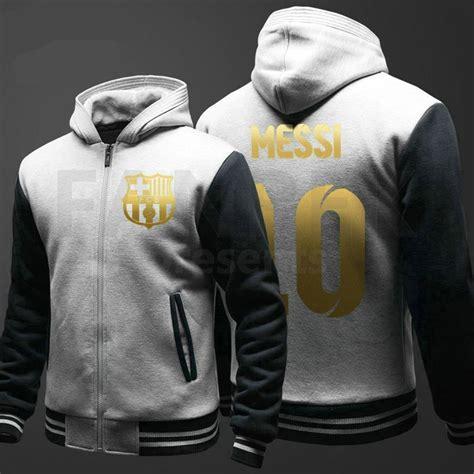 Hoodie Lionel Messi Barcelona 1 fc barcelona lionel messi 10 logo zipper hoodies