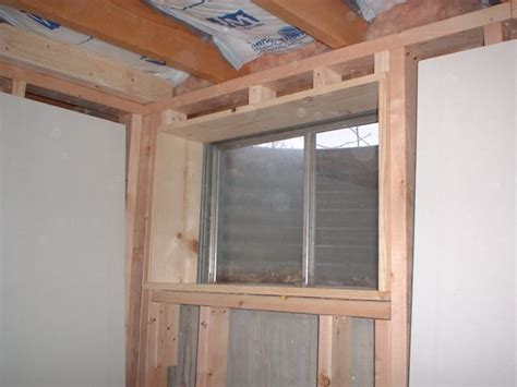 framing a window basement window framing