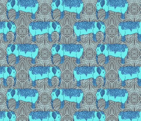 pattern fabric elephant elephant pattern fabric argunika spoonflower