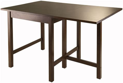 Walnut Space Saving Dining Table Lynden Walnut Drop Leaf Extendable Dining Table From Winsomewood Coleman Furniture