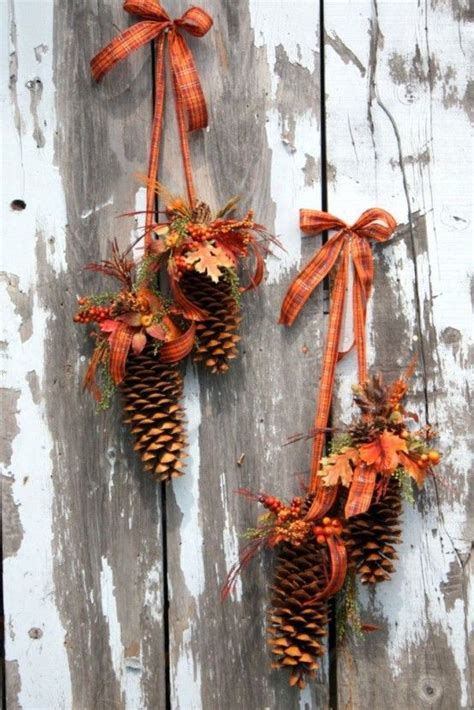 fall season decorations best 25 pinecone decor ideas on pinecone