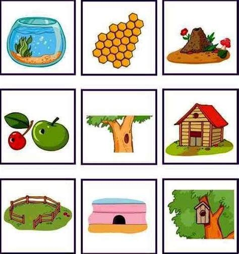 Printable Pictures Of Animals And Their Homes all worksheets 187 animals and their homes pictures