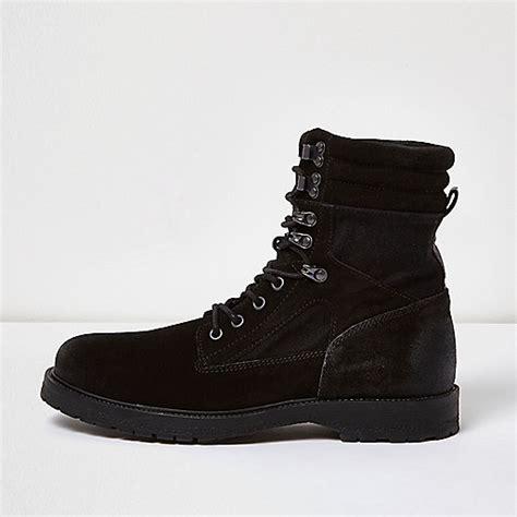 black suede combat boots boots shoes boots