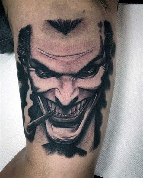 joker face tattoo collection of 25 joker