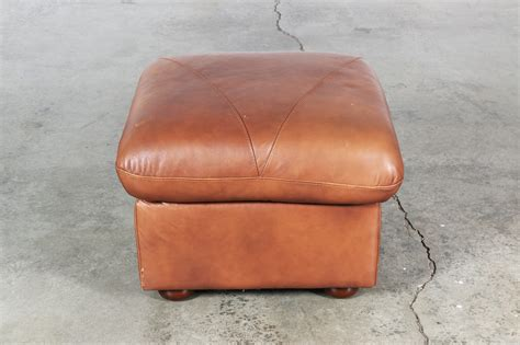 vintage brown leather ottoman vintage brown leather bench or ottoman vintage supply store