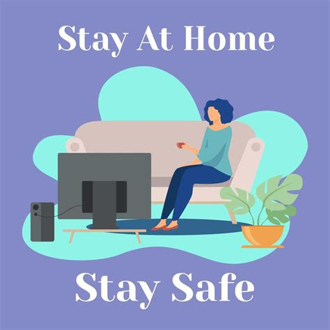 woman staying  home  stay safe   vectors