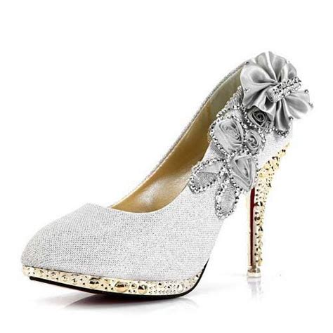 cheap silver heels 20 qu heel