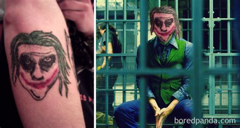 joker tattoo fail face swapping awful tattoos with their real life