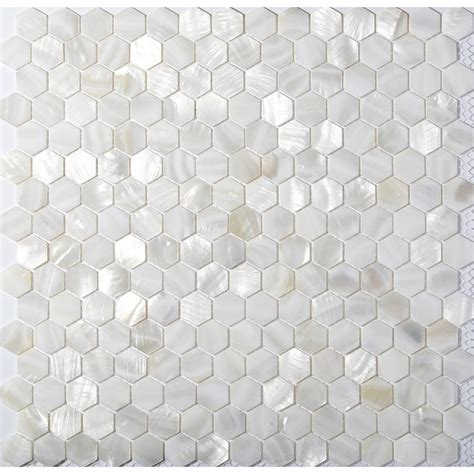 of pearl tile tst of pearl tiles white hexagon shinning wall deco backsplash shell