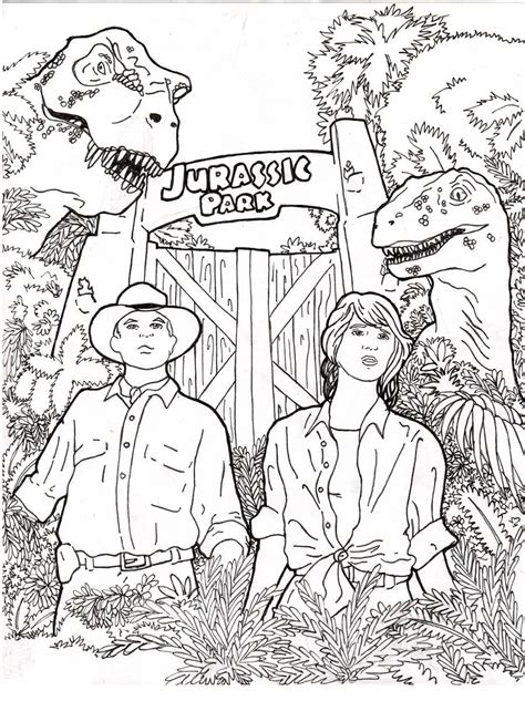 coloring pages lego jurassic park jurassic park by rennox on deviantart