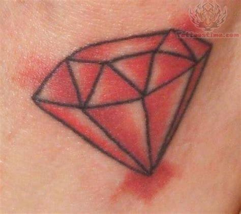tattoo red diamond crystal tattoo on shoulder