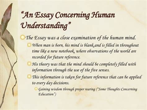 Locke An Essay Concerning Human Understanding Book 3 Summary by Locke Essay Concerning Human Understanding Books