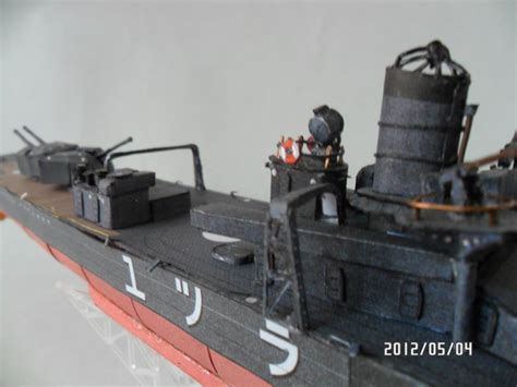 Papercraft Destroyer - wip japanese shiratsuyu class destroyer papercraft by