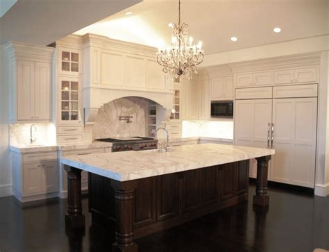white kitchens with islands two tones espresso kitchen cabinets with white island