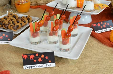fall in bridal shower theme candles and favors