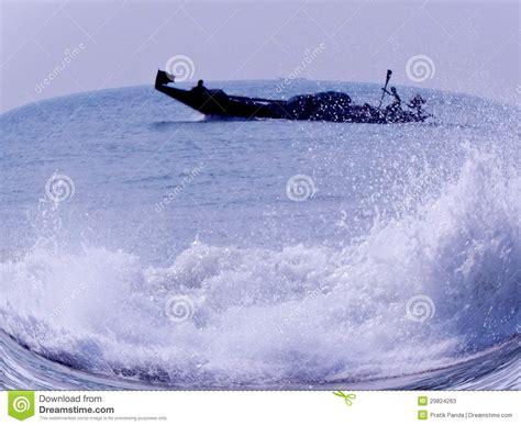 boating license for ocean boating in a bowl fisheye lens effect stock image image