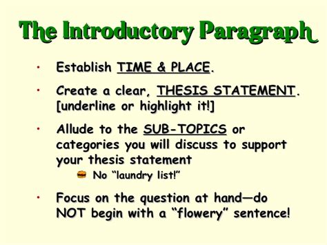 how to do thesis how to do an apush dbq