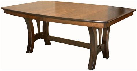 amish solid wood dining table amish casual trestle dining table boat top oval rectangle
