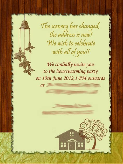gruhapravesam invitation card templates housewarming invitation cards images invitation sle and