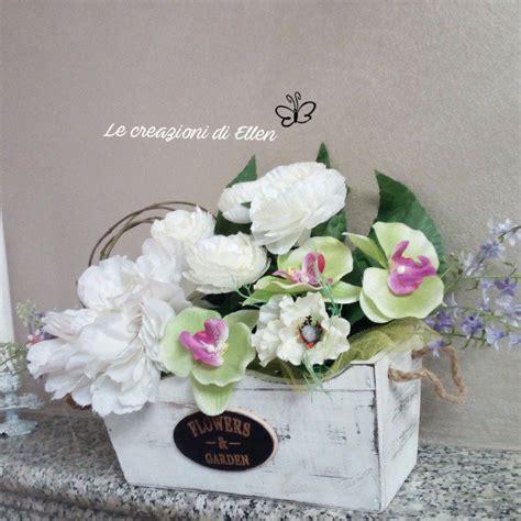 vaso con fiori finti vaso composizione fiori finti shabby per la casa e per