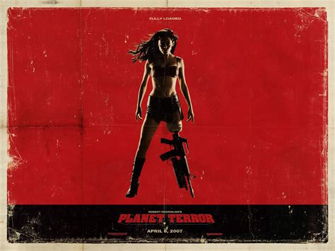 quentin tarantino film canvas movies planet terror rose mcgowan grindhouse quentin