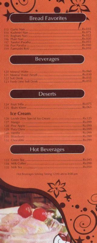 Dine Restaurant Gift Card - lavish dine restaurant karachi menu deals
