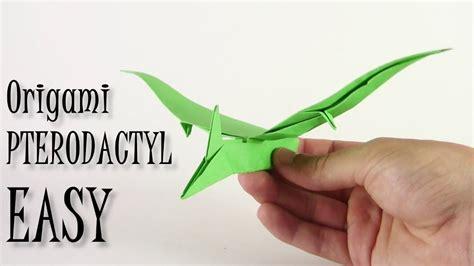 Origami Pterodactyl - origami pterodactyl easy origami dinosaur yakomoga