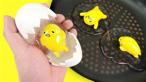 diy gudetama egg clear slime japanese eggs toys slime