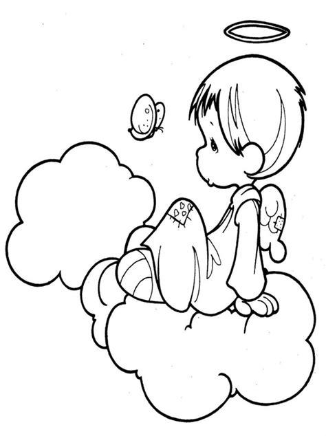 kids page angel coloring pages