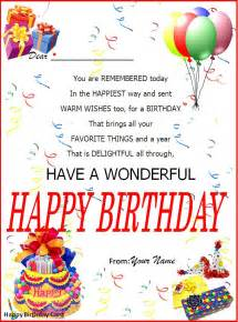 Birthday Template Word by Birthday Card Template Page Word Excel Pdf