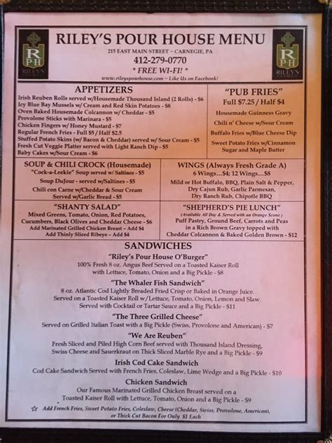 the pour house pa menu front yelp